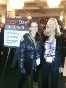 Danielle Deramo and Linda Hart at Tedx Dayton Check in
